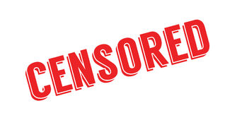 Censored rubber stamp Stock Image