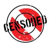 Censored rubber stamp Royalty Free Stock Photos