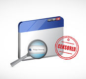 Censored web browser illustration design Royalty Free Stock Images