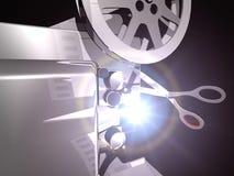 Censorship. Symbolic scene representing censorship in Cinema Stock Photo