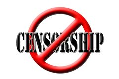 Censorship. Sign stop censorship, on a white background Royalty Free Stock Image