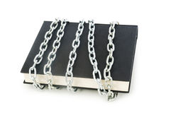 Censorship concept with books and chains Royalty Free Stock Photos