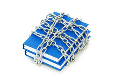 Censorship concept with books and chains Stock Photography