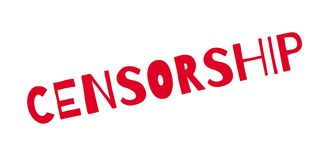 Censorship rubber stamp Stock Photos