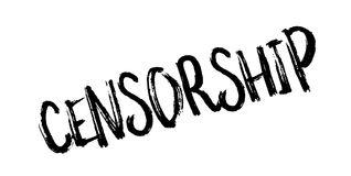 Censorship rubber stamp Stock Image