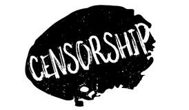Censorship rubber stamp Royalty Free Stock Photo