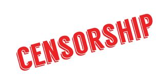 Censorship rubber stamp Royalty Free Stock Image