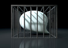 Censorship Of Speech Caged Royalty Free Stock Images