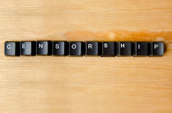 Censorship word. With keyboard buttons stock images