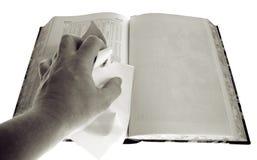 Censura della pagina in bianco del libro Fotografia Stock
