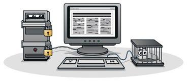 Censura do Internet Fotografia de Stock Royalty Free