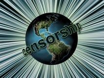 Censura global ilustración del vector