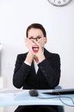 Censura sul lavoro. Immagine Stock