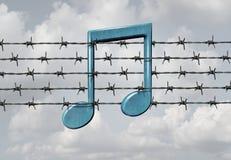 Censure de media illustration libre de droits