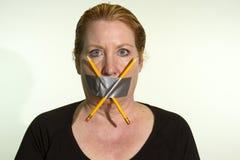 Censurera åsiktsfrihet, fri press Fotografering för Bildbyråer