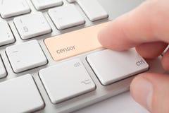 Censurera internetbegreppet royaltyfri bild