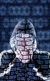 Censurerad en hacker royaltyfria bilder