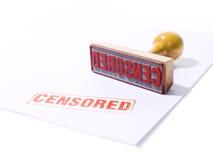 censurerad rubber stämpel Royaltyfri Bild