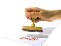 censurerad rubber stämpel Royaltyfria Bilder