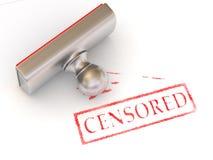 censurerad stämpel Arkivbilder