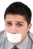 censurerat anförande Fotografering för Bildbyråer