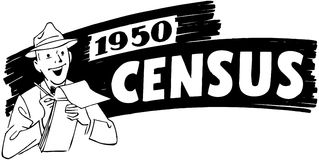 1950 Census Royalty Free Illustration