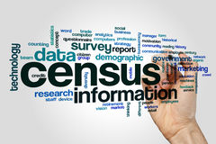 Census word cloud concept on grey background Royalty Free Stock Image