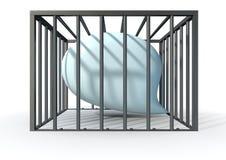 Censuur van Gekooide Toespraak Stock Afbeeldingen