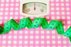 Centímetro verde e escalas Imagens de Stock