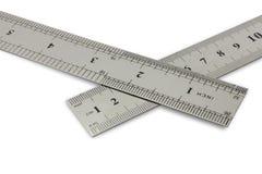 Centímetros contra polegadas Fotografia de Stock
