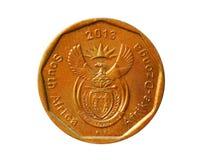 50 centów ukuwają nazwę, Afrika-Dzonga, bank Południowa Afryka Awers, 201 Obrazy Royalty Free
