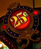 cent 25 undertecknar Royaltyfri Bild