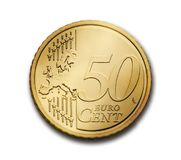Cent, 50, Euro, Coin, Currency Royalty Free Stock Image