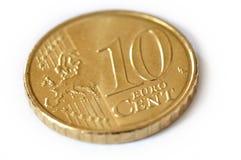 10 cent av euro Royaltyfri Fotografi