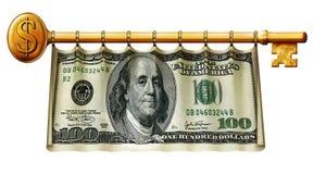 Cent bannières principales du dollar Photographie stock
