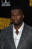 50 Cent bij de Aankomst van de de Muziektoekenning van 2009 Amerikaanse, Nokia-Theater, Los Angeles, CA. 11-22-09 Stock Foto's