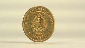 3 Cent Bulgarian Stotinki stock footage