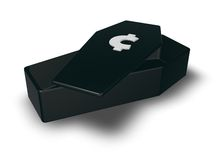 Cent coffin Royalty Free Stock Images