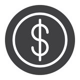 Cent coin icon vector. Filled flat sign, solid pictogram isolated on white. Symbol, logo illustration. Pixel perfect graphics Stock Photos