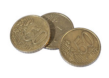 50 cent coins Stock Photo