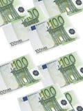 Cent collages de facture d'euro d'isolement sur le blanc illustration libre de droits