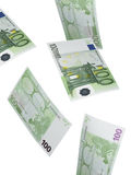 Cent collages de facture d'euro d'isolement sur le blanc Photographie stock