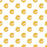 Cent currency symbol pattern, cartoon style. Cent currency symbol pattern. Cartoon illustration of cent currency symbol vector pattern for web Royalty Free Stock Photography