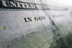 Cent détails de dollars US - dans Dieu nous faisons confiance Images stock