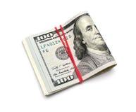 Cent dollars de billets de banque Image stock