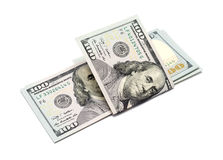 Cent dollars de billets de banque Photographie stock libre de droits