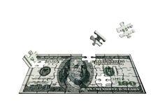 Cent dollars du puzzle Images libres de droits