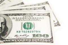 Cent dollars se ferment, foyer sélectif image libre de droits