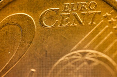 2 cent euro coin detail europe union Royalty Free Stock Photography