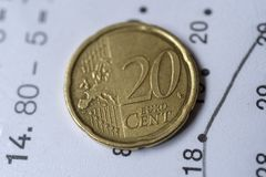 20-Cent-Euromünze Lizenzfreie Stockfotos